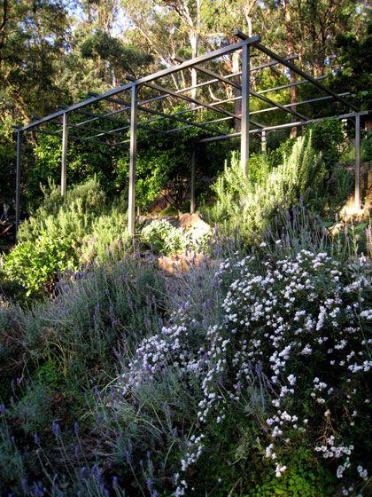 Steel Garden Pergola Instead Of Traditional Design Timber Pergola