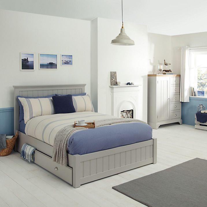 John Lewis Helston Storage Bed, Double, Grey Online at johnlewis