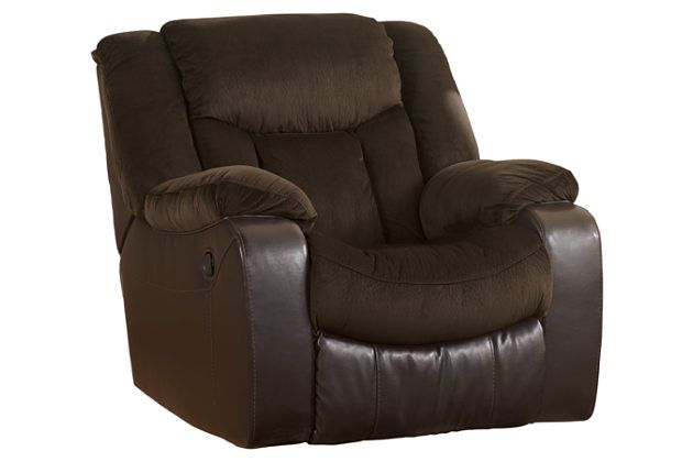 Tafton Recliner By Ashley Homestore Brown Polyester 100