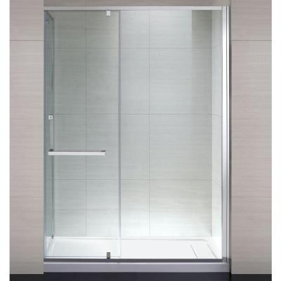 Schon brooklyn 60 in x 79 in semi framed shower for Glass door design jobs