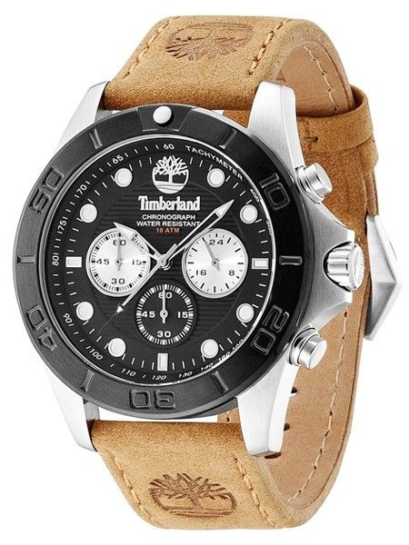 timberland front country watch men 13318js 02 evosy the timberland men s chronograph rollins brown leather strap watch watches jewelry watches macy s