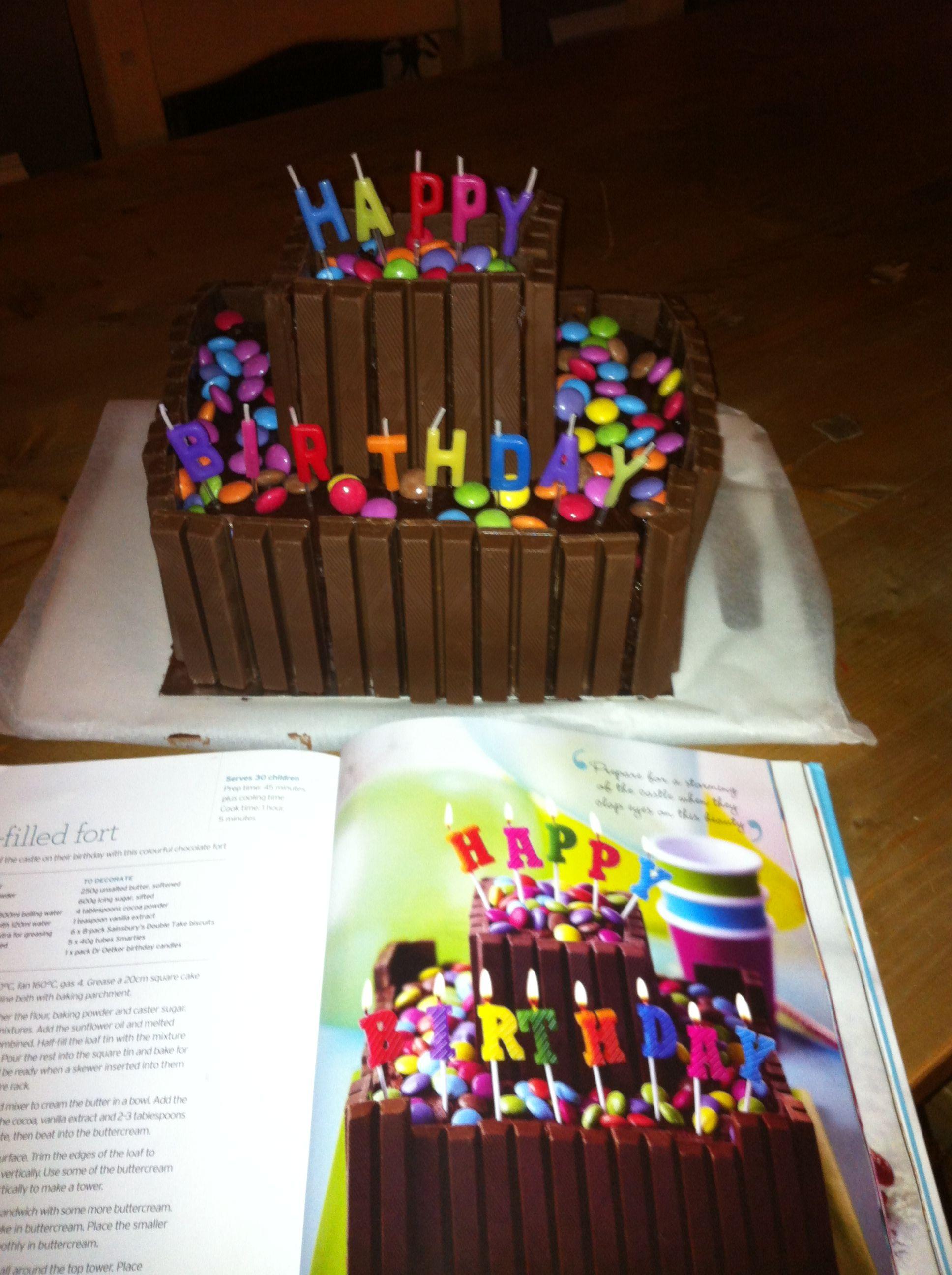 Fun to make fort birthday cake choc overload mmm