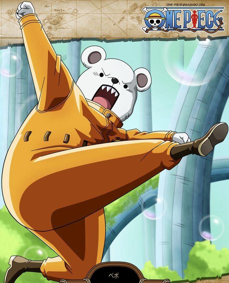 Bepo's Polar Bear Form | Anime, Cướp biển, One piece