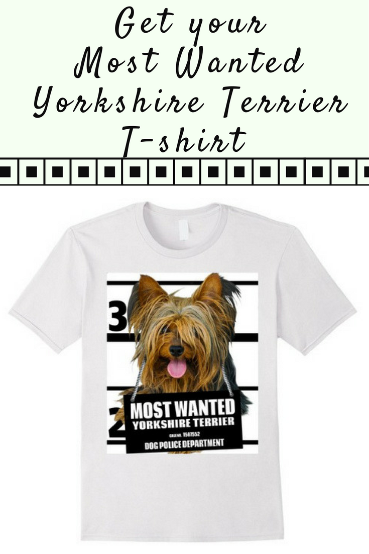 Most Wanted Yorkshire Terrier Tshirt Dog Tee Shirts