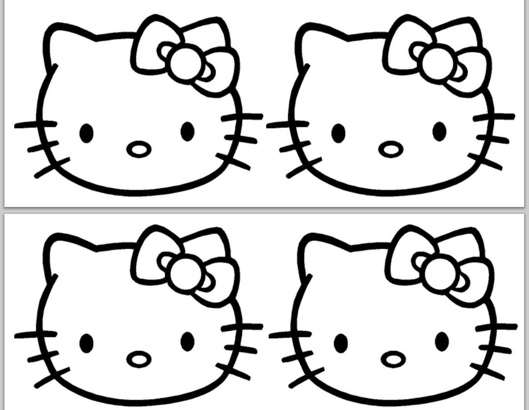 hello kitty cut out template hello kitty birthday banner template hello kitty party