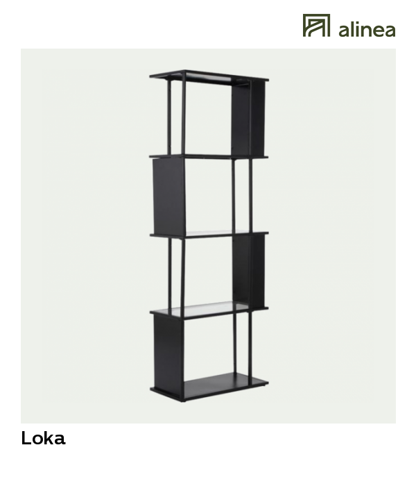 alinea loka etagere en metal noir et