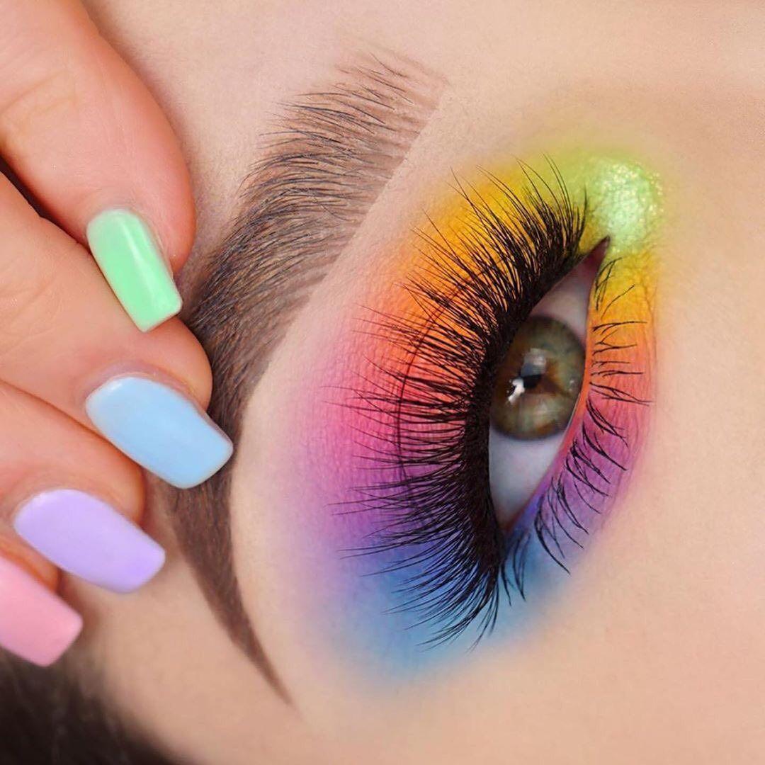Amazing Rainbow Eye Lookswipe For Tutorial Creative Eye