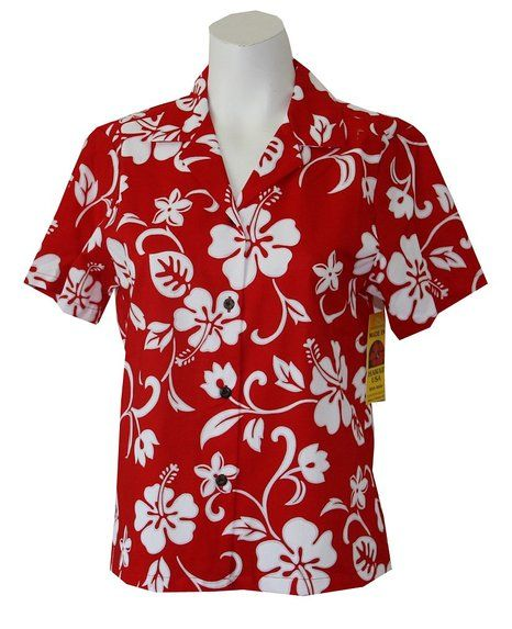 a3ff97b023 WOMEN'S CLASSIC HIBISCUS HAWAIIAN SHIRT, L, RED. For my Lilo Disney ...