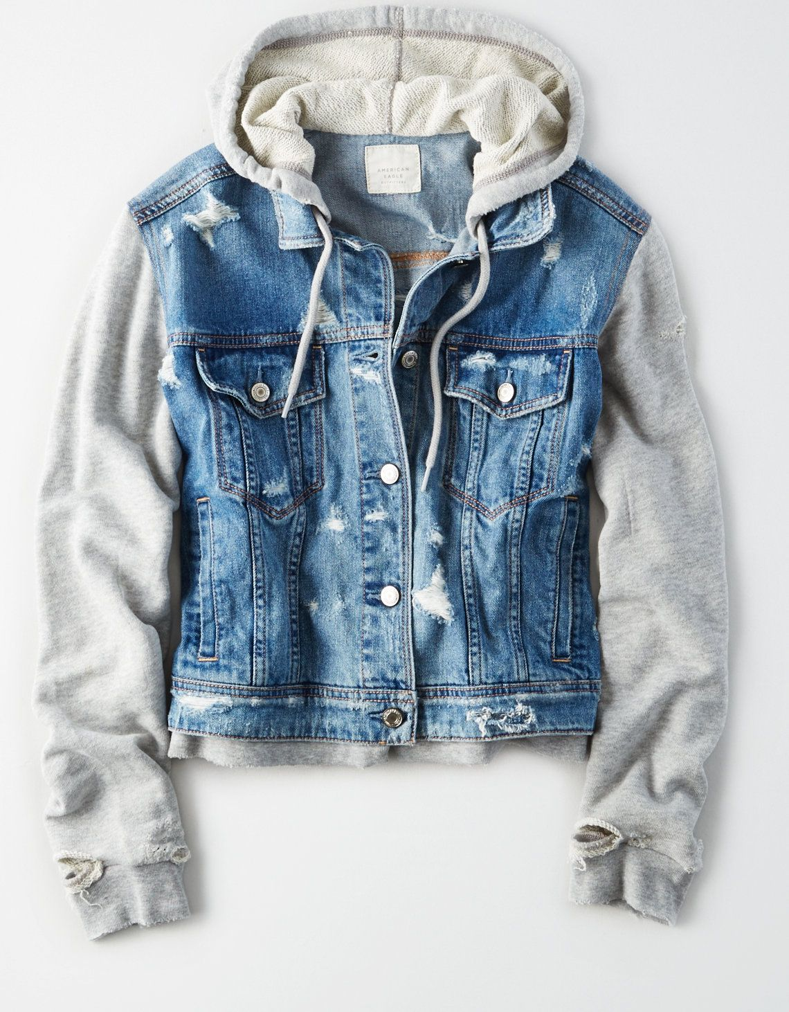 Pin By Nory Tinello On Products That I Love Denim Jacket With Hoodie Hoodie Jacket Outfit Denim Hoodie [ 1462 x 1140 Pixel ]