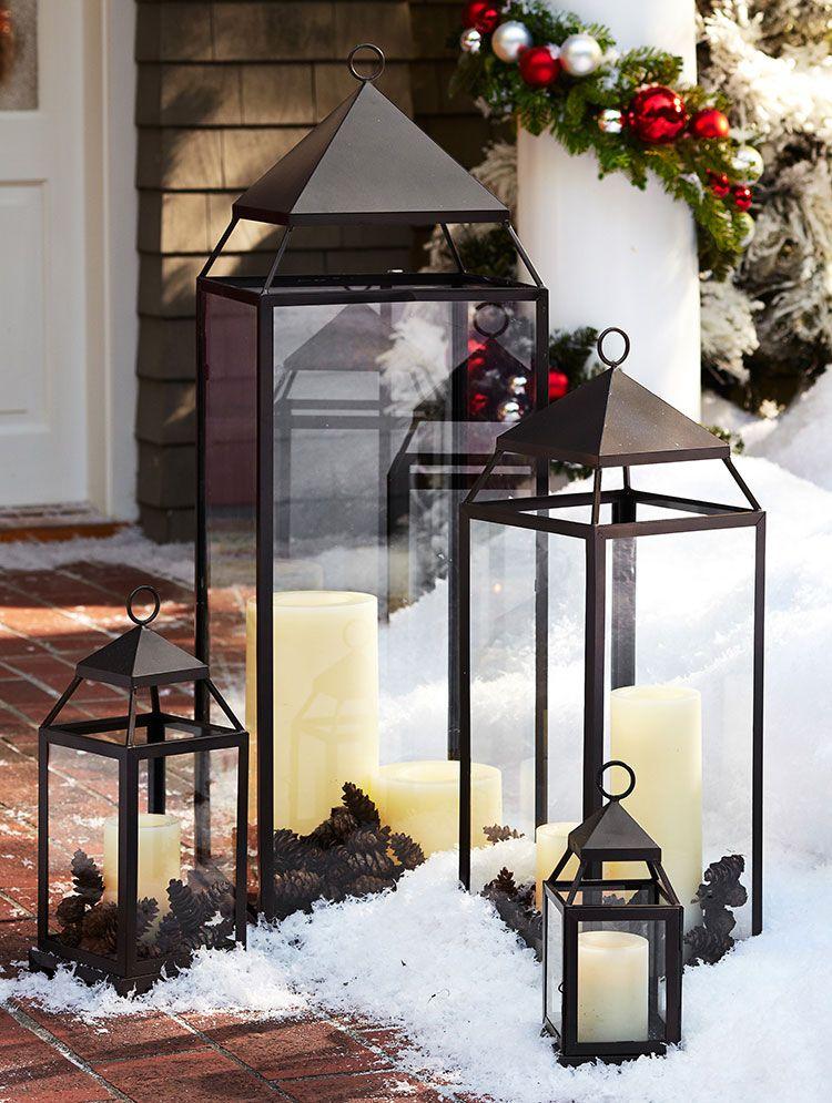 Christmas Styles Pottery Barn Lanterns Holiday Decor