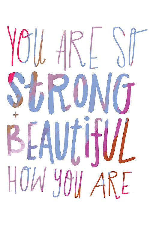 You Are Strong Canvas Art Print by Sara Franklin   Canvas ...