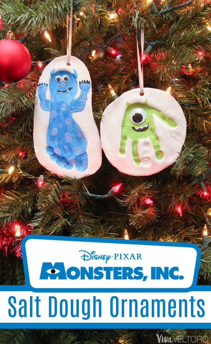 SUPER cute Monsters Inc Christmas ornaments made