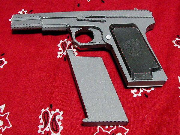 Full Size Tokarev TT-33 Pistol Paper Model Ver.2 Free ...