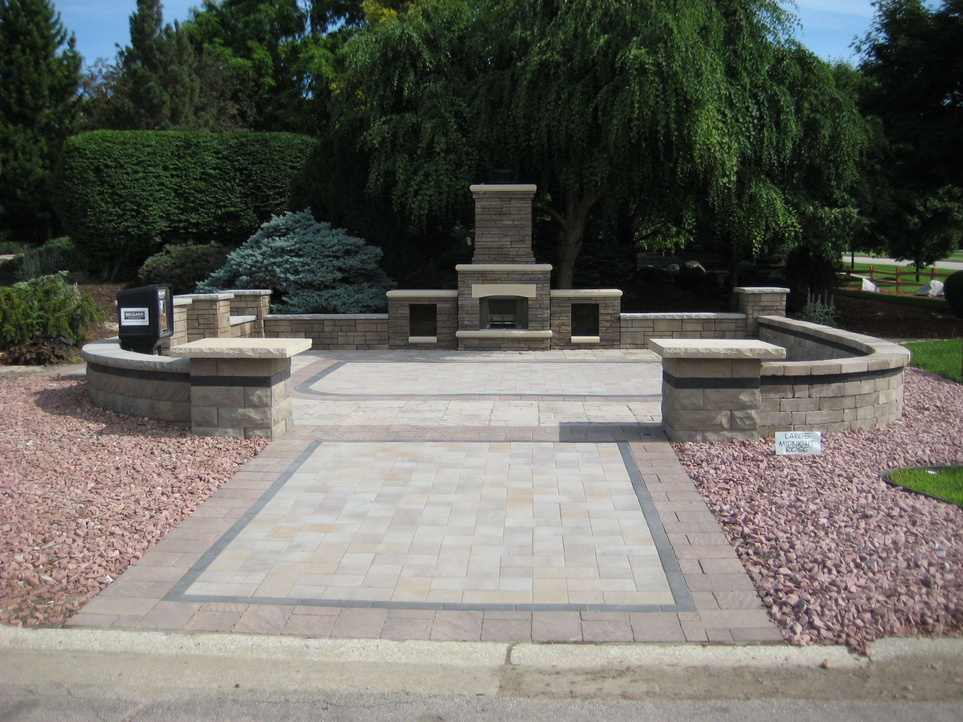 Our Belgard fireplace display.  Visit www.tamelings.com for more information.