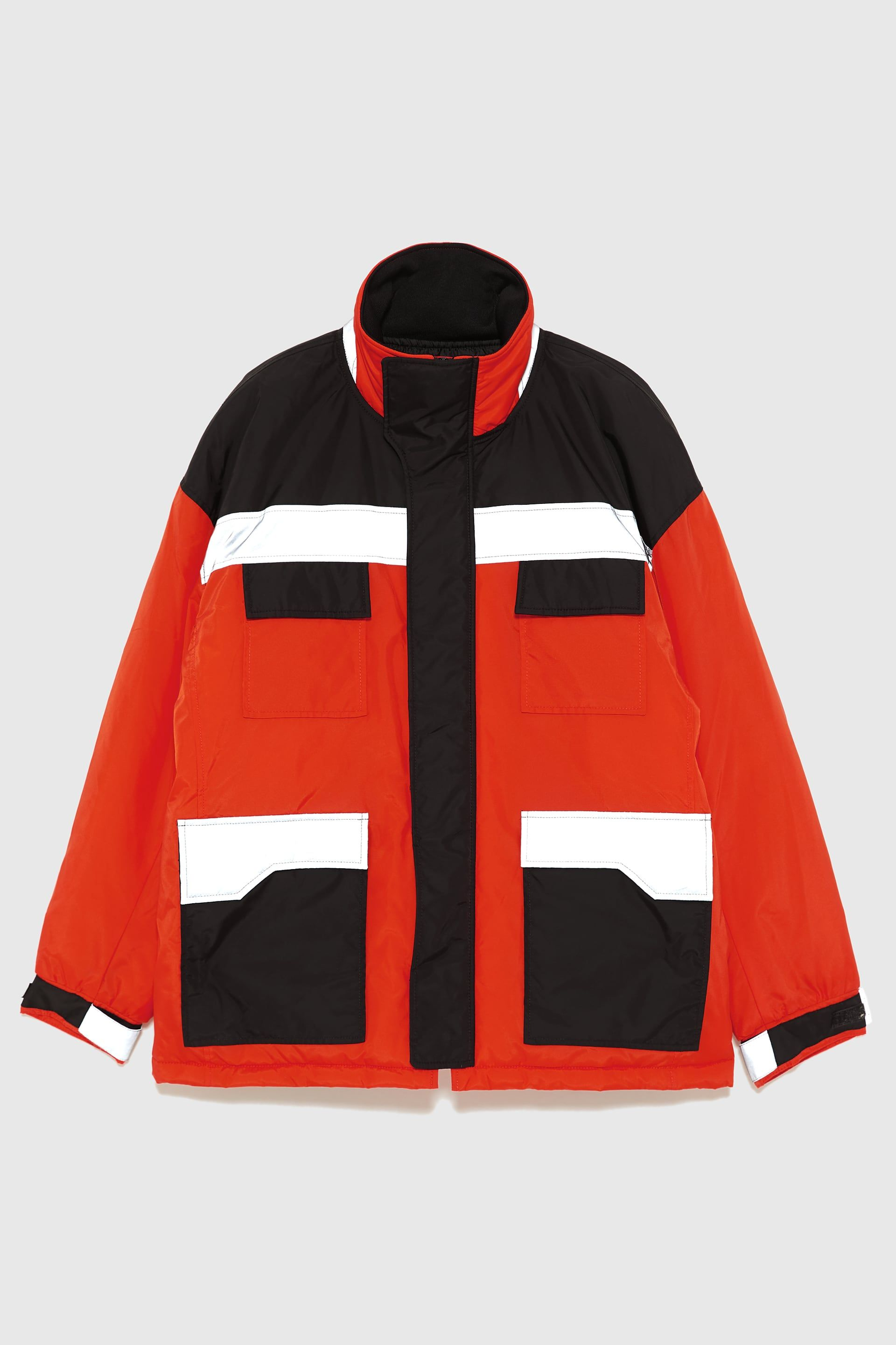 Image 6 Of Reflective Puffer Jacket From Zara Jackets Puffer Jackets Rain Jacket [ 2880 x 1920 Pixel ]