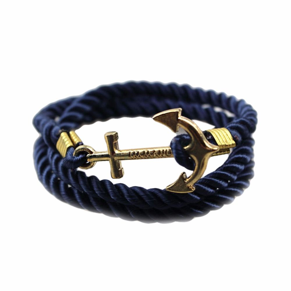 vintage anchor bracelet men women trendy rope bracelet fashion