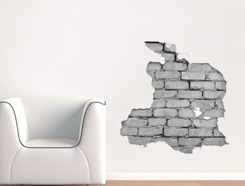 Wandtattoo Effekt Wand Ziegel Gedruckt Aufkleber Wandtattoo - wandtattoo braune wand