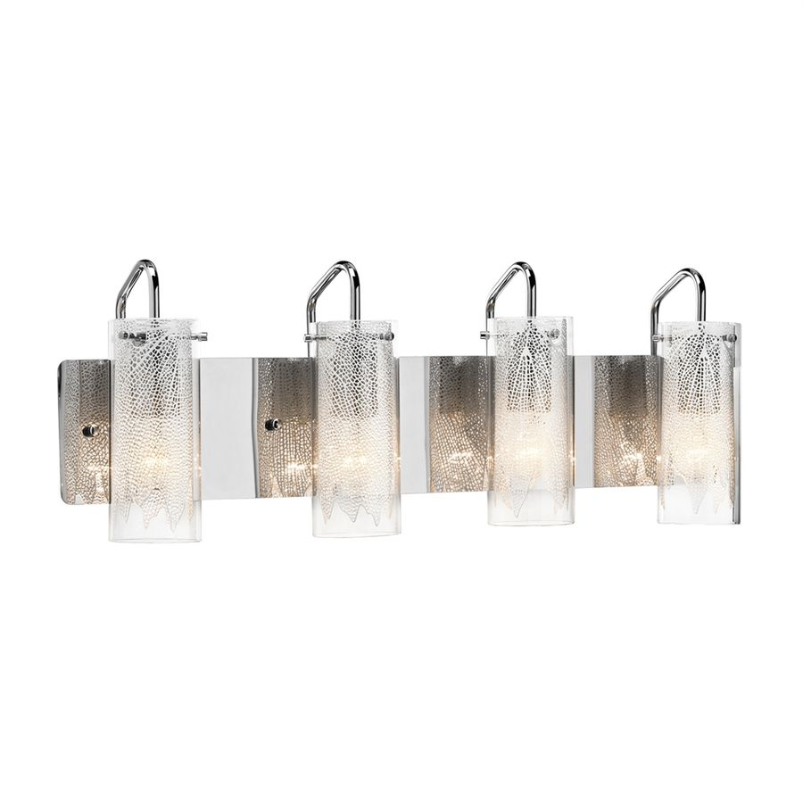 Elan Krysalis 4 Light 9 5 In Chrome Cylinder Vanity Light With Images Vanity Lighting Bath