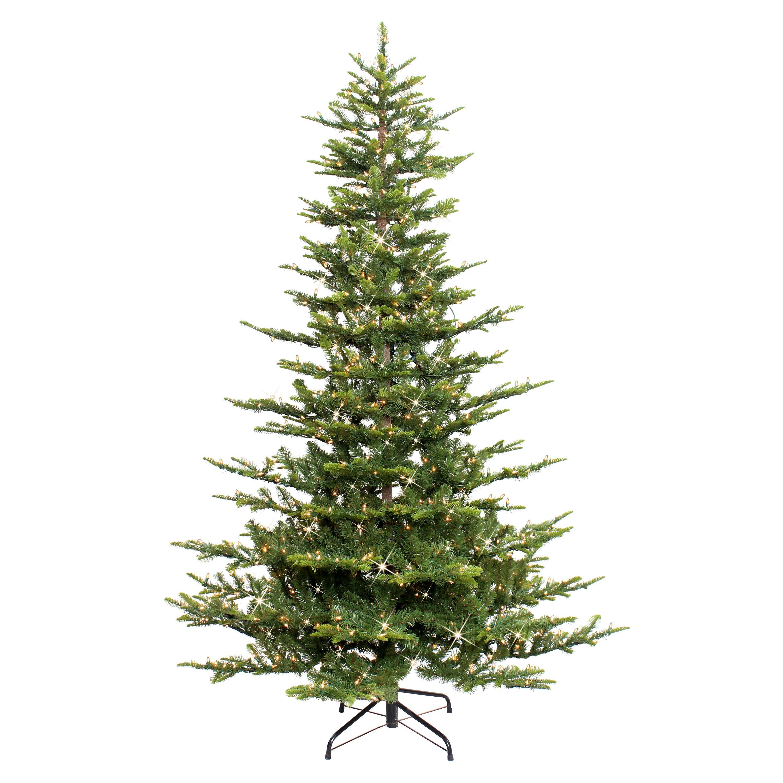 Puleo International 7 5 Pre Lit Aspen Green Fir Tree Walmart Com Best Artificial Christmas Trees Artificial Christmas Tree Christmas Tree Clear Lights