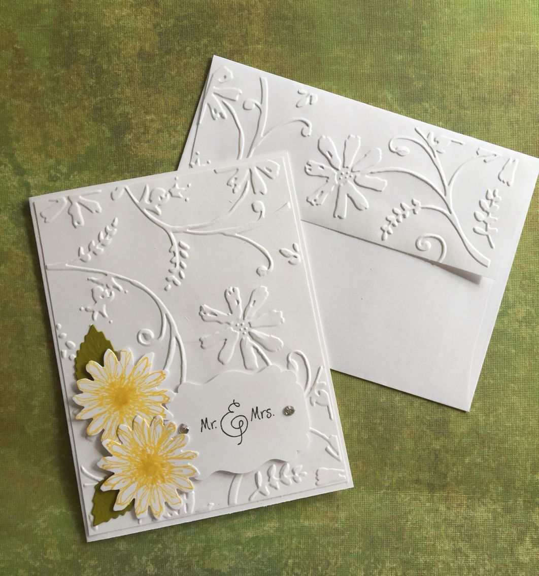 I love the embossed envelope flap embossing pinterest