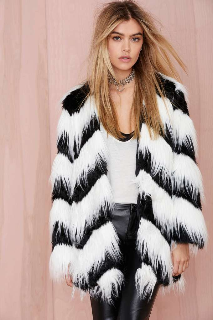 Glamorous Sass Master Faux Fur Coat | Shop Jackets   Coats at ...