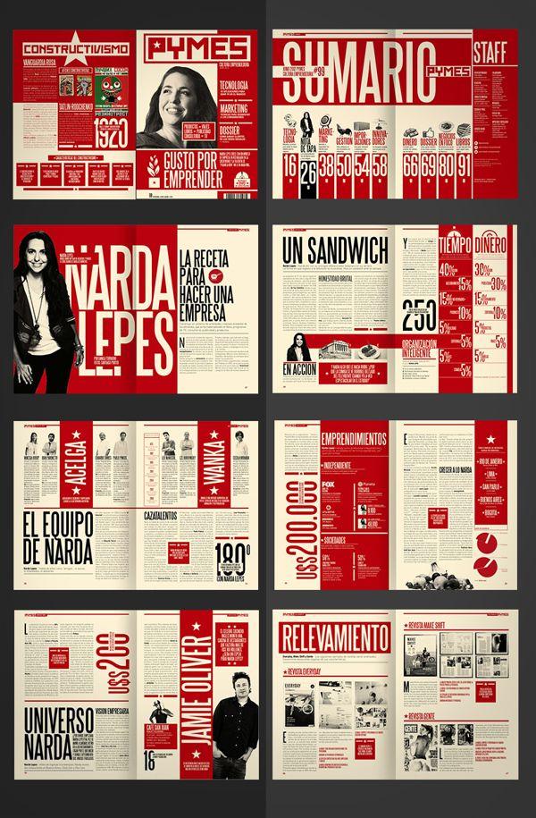 Diseño Editorial - Revista Pymes (re-diseño) by Boris Vargas ...