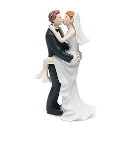 Kissing Couple Cake Topper (funny)
