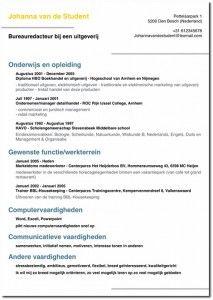 dutch cv Generate a good looking PDF CV with giga cv Voorbeeld cv   an