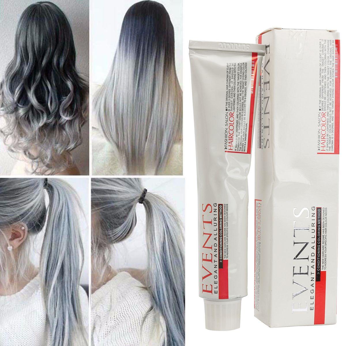 Light Gray Hair Dye Color Cream Fashion Styling Diy For Men Women Is