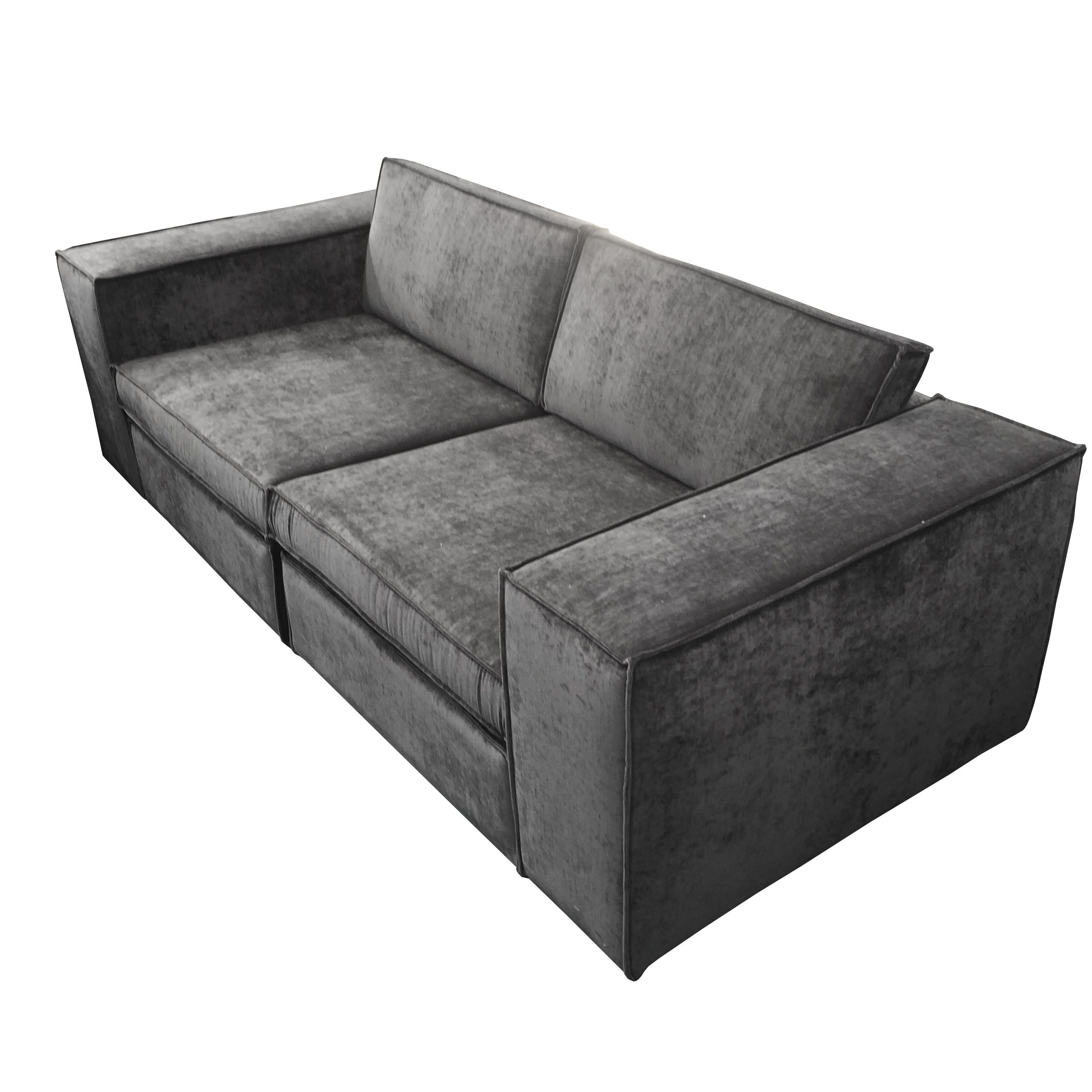 Oasis Sofa in Gray Crate and Barrel Casita Linda