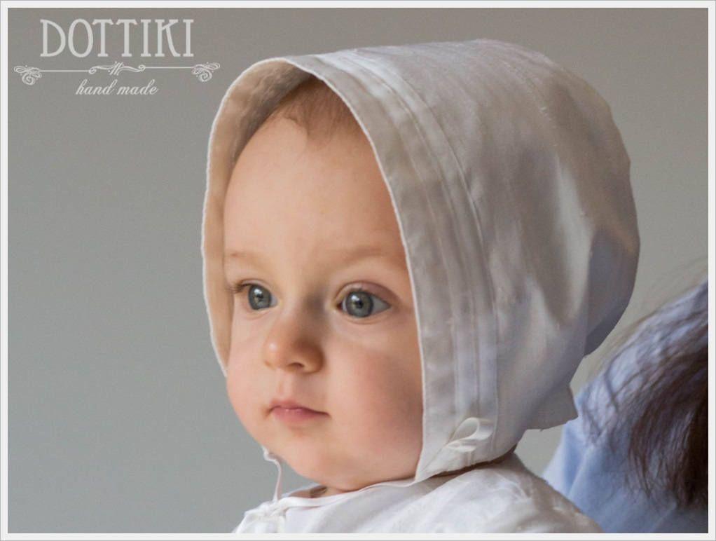 59193f0d2e51a Baby Baptism Bonnet for Boys and Girls, Unisex Silk Christening Bonnet , Baptism  Hat, Christening Hat in White or Ivory or Cream by DOTTIKI on Etsy