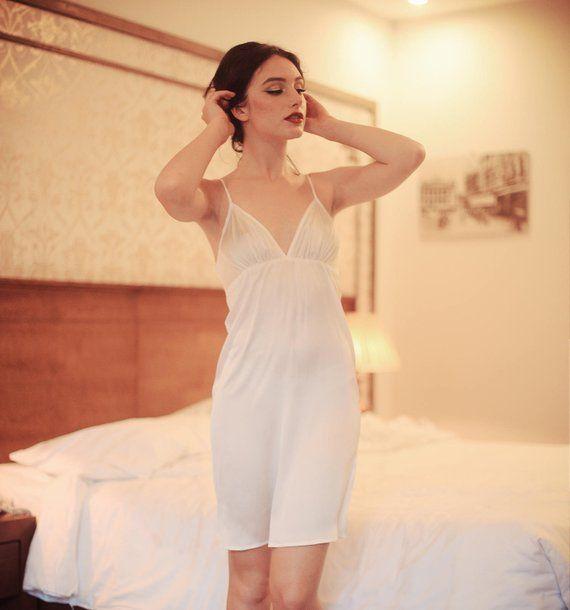 bf323d7cc8 Luxury babydoll 100% natural silk dress sleepwear gown dress nightie bridal  bridesmaid wedding gift