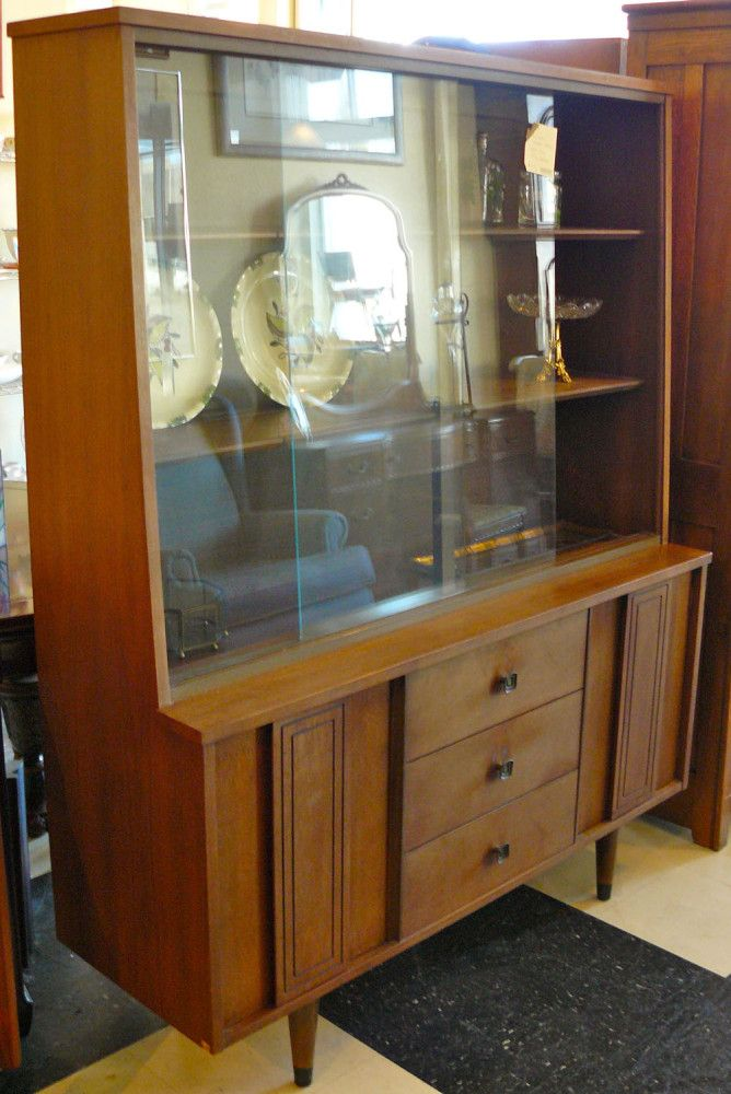 midcentury modern china cabinet by stanley furniture