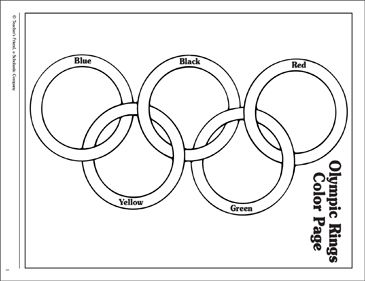Olympic Rings Coloring Page Teaching aides Pinterest Olympics