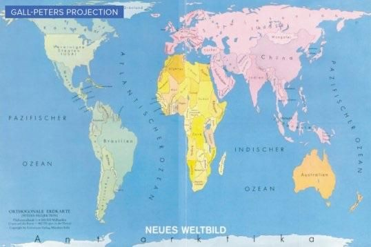 Galls peters map projection accurately depicts the true size of land galls peters map projection accurately depicts the true size of land masses gumiabroncs Gallery
