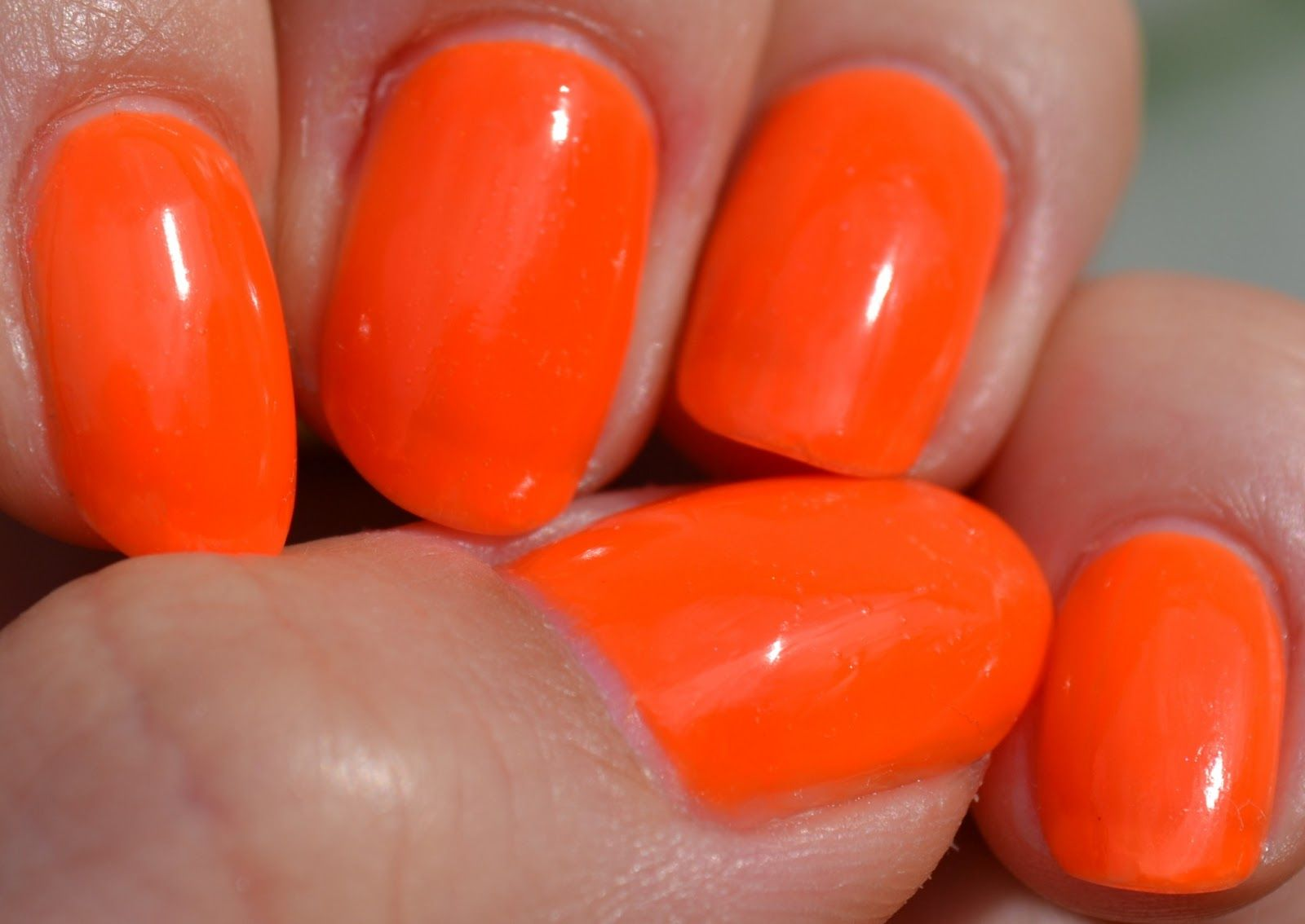 NOTD: Wild&Mild 004 More, More, More   Neon orange nails, Orange ...