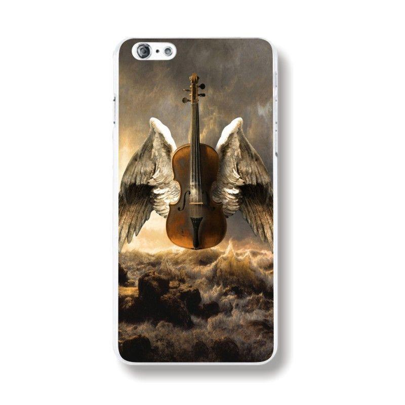 Transparent Edge Love sheep bird Retro Styles Hard PC Back Case Cover For Apple iPhone 6 6s fundas capa Phone Case protector