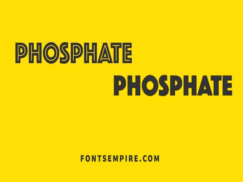 Phosphate Font Free Download - Fonts Empire | Phosphate Font Family