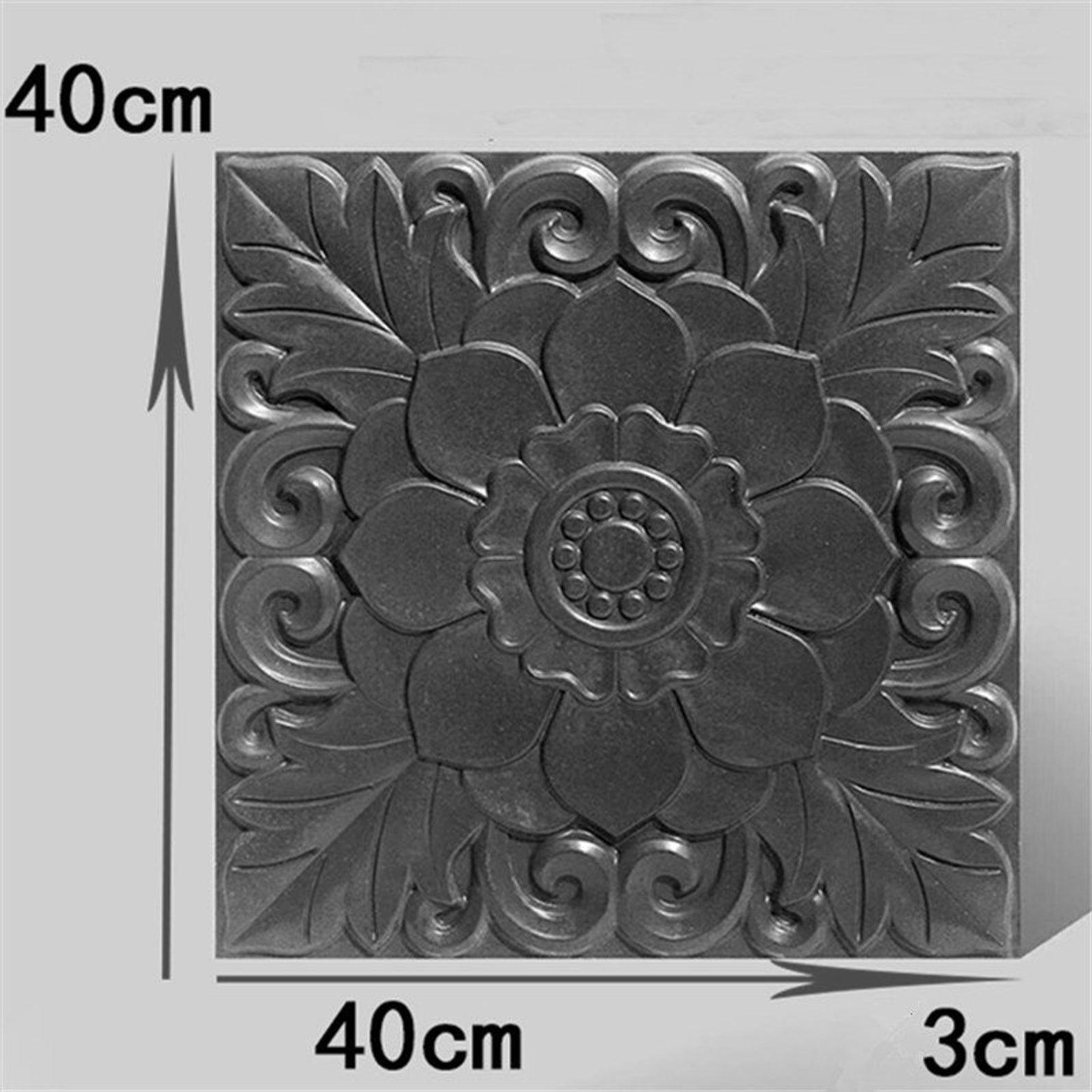 Sunflowers plaque plastic mold concrete plaster casting mould