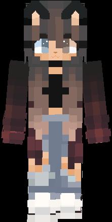 Anime Cat Girl Hd Not Mine Copy Nova Skin Minecraft Girl Skins Minecraft Anime Minecraft Skins Cute