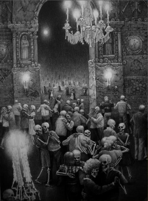 Skeletons La Danse Macabre Illustration Noire Photos De Danse