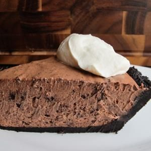 No-Bake Chocolate Kahlua Pie  -  Airy, decadent and tinged with coffee liqueur, the best thing about this pie for late summer: no oven required.  From Serious Eats, found at www.edamam.com.