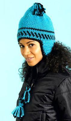 cdc901a4385 Peruvian Earflap Hat  free pattern