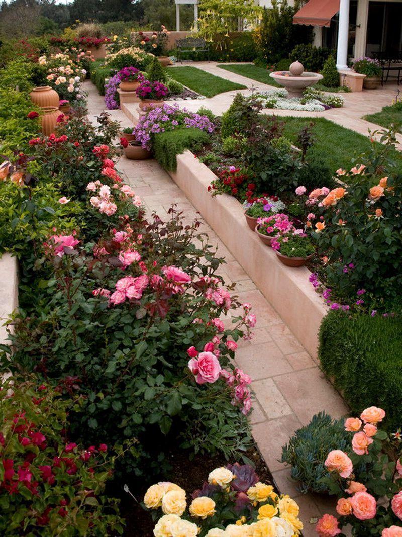 Rose Garden Designs For Small Yard Small Flower Gardens