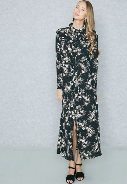 abf8d3870ce Ella prints Self Tie Shirt Maxi Dress 1887 for Women Online Shopping in  Dubai