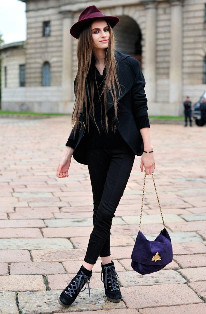 1001 bonnes raisons pourquoi s 39 habiller en noir blazer femme blazer et lacet. Black Bedroom Furniture Sets. Home Design Ideas