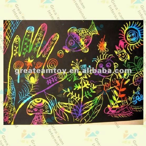 Pin Na Doske Scratch Art For Kids To Do