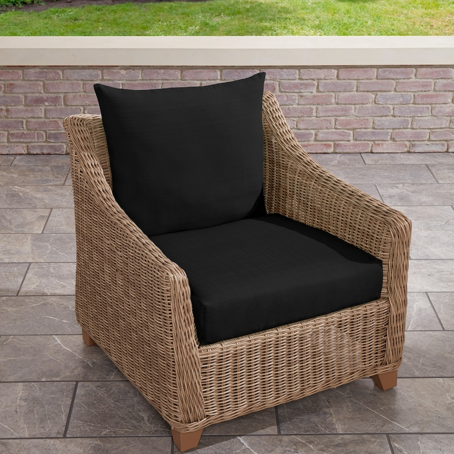 Terrasol Solid Deep Seat Chair Cushion And Back Set Outdoor