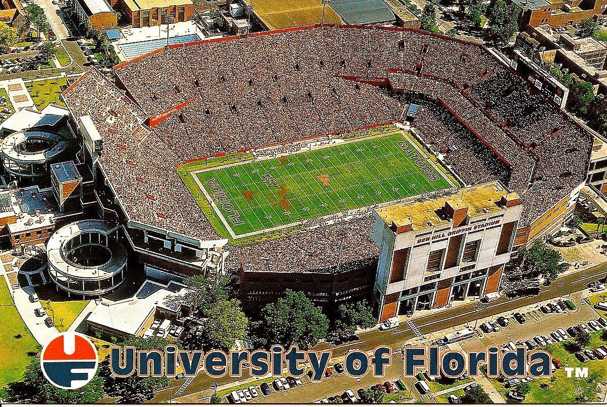 Florida Gators Football Stadium The Swamp At The University Of Florida Florida Gators Football Gator Nation Gators Football