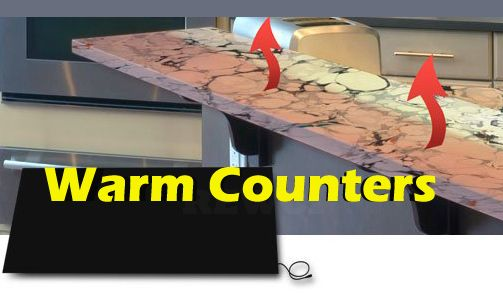 Gently Warm Cold Stone Counter Tops It Installs Easily By Adhering Discreetly And Permanently To The Underside Of Countertop Warms